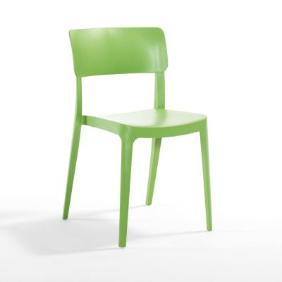 Pano Polypropylene Stackable Side Chair in Green