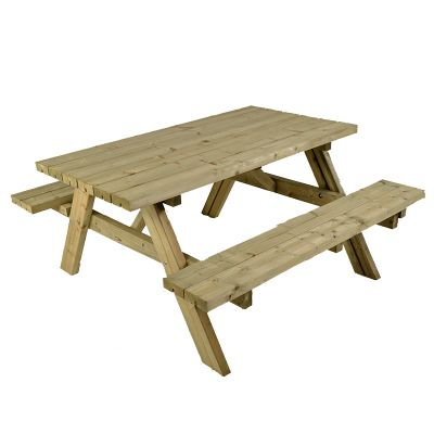 Whitby Heavy Duty A Frame 6 Seat Commercial Picnic Table