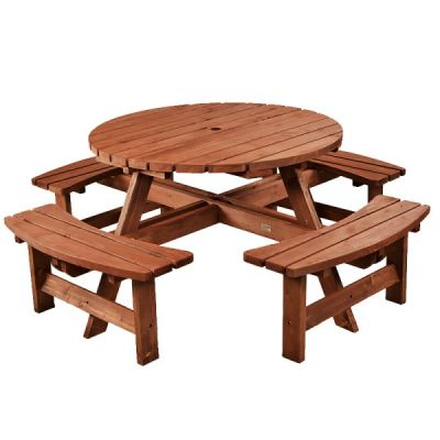 Lancaster Round 8 Seat Commercial Picnic Table