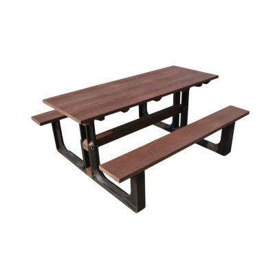 Recycled Plastic 6 Seat Rectangular Commercial Picnic Table
