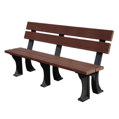Recycled Plastic 4 Seat Commercial Armless Bench