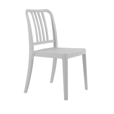 Varia Polypropylene Stacking Side Chair in Grey