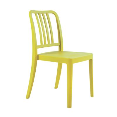 Varia Polypropylene Stacking Side Chair in Lemon Yellow