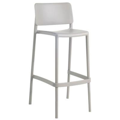 Joy Polypropylene Stacking Bar Chair in Grey