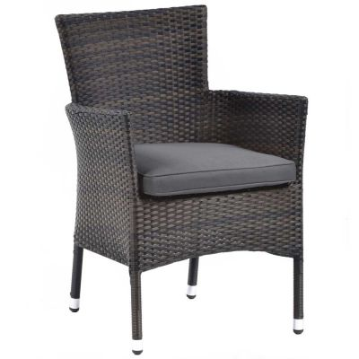 Newbury Classic Rattan Stacking Arm Chair