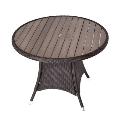Classic Rattan Small Round Polywood Dining Table