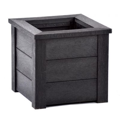 100% Recycled Plastic Small Black Planter