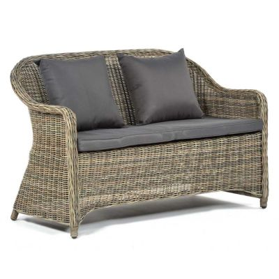 Regent Rattan Sofa Set with Glass Coffee Table