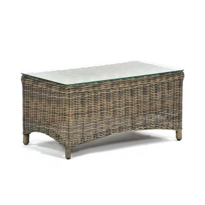 Regent Rattan Glass Coffee Table