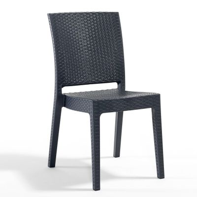 Madrid Rattan Effect Polypropylene Stacking Side Chair
