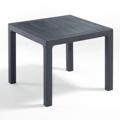 Madrid Rattan Effect Polypropylene Large Square Dining Table