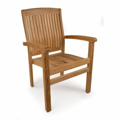 Harston Grade A Teak Stacking Arm Chair