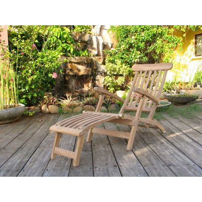 Grade A Teak Foldable Steamer Chair