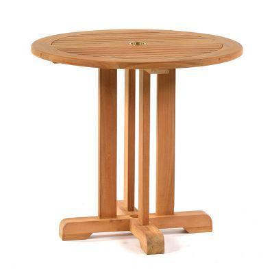 Benson Teak Round Pedestal Bistro Table