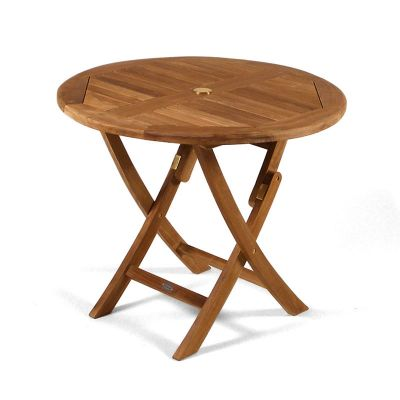 Whitley Grade A Teak Round Folding Dining Table