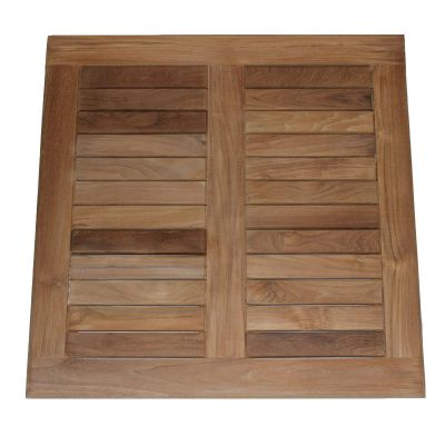 Grade A Teak Square 80cm Teak Table Top
