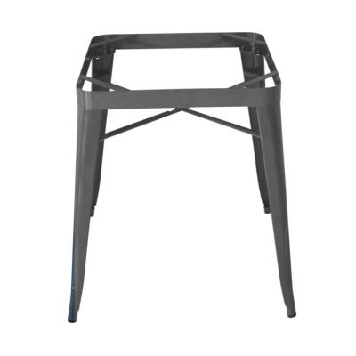 Tolix Style Table Base Gun Grey (for 70 & 80cm Sq top)