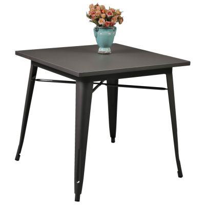 Tolix Style Table 80x80cm Gun Metal Grey