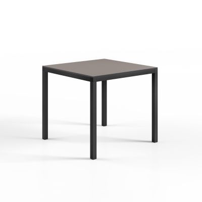 Hybrid Table 80 x 80 Anthracite Base Turtle Dove Top